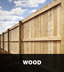 Example of A Wood Fence