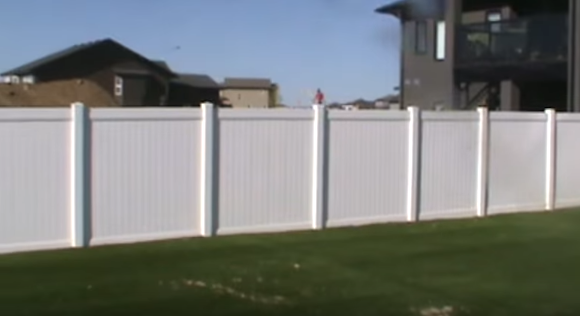 Image of a vinyl fence